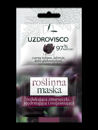 Czarny Tulipan Roślinna maseczka redukująca zmarszczki, ujędrniająca i rozjaśniająca (10ml)