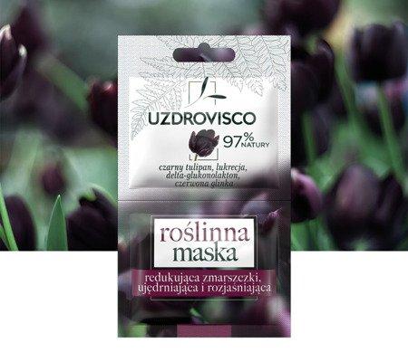 Czarny Tulipan Roślinna maska redukująca zmarszczki, ujędrniająca i rozjaśniająca 10ml